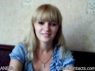 Start VIDEO CHAT with ANETA
