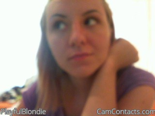 Start VIDEO CHAT with PlayfulBlondie