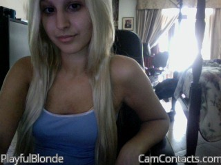 Start VIDEO CHAT with PlayfulBlonde