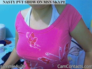 Start VIDEO CHAT with sammie4u29
