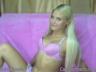 Start VIDEO CHAT with EuroBlondee