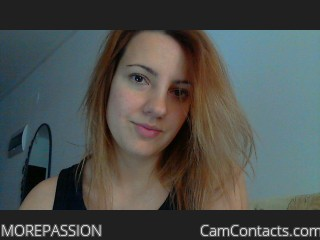 Start VIDEO CHAT with MOREPASSION
