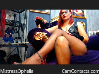 Start VIDEO CHAT with MistressOphelia