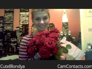 Start VIDEO CHAT with CuteBlondya