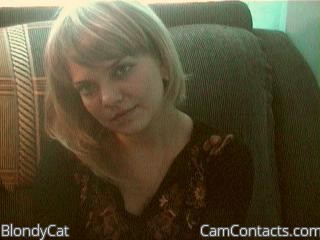 Start VIDEO CHAT with BlondyCat
