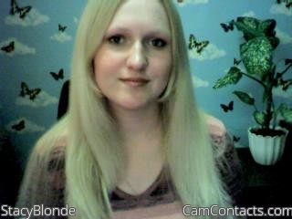 Start VIDEO CHAT with StacyBlonde