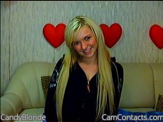 Start VIDEO CHAT with CandyBlonde
