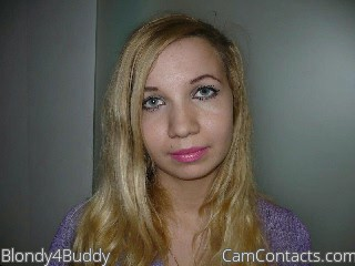Start VIDEO CHAT with Blondy4Buddy