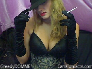 Start VIDEO CHAT with GreedyDOMME