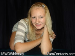 Start VIDEO CHAT with 18WOWblondy