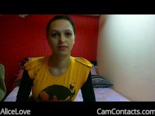 Start VIDEO CHAT with AliceLove
