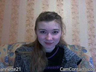 Start VIDEO CHAT with annette21