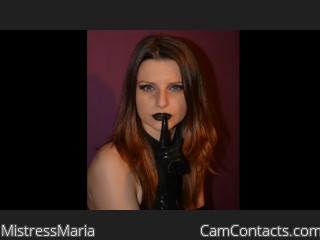 Webcam model MistressMaria from CamContacts