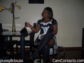 Webcam model pussyliciousx from CamContacts