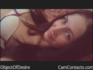 Webcam model ObjectOfDesire from CamContacts