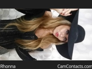 Webcam model Rhonna from CamContacts