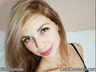 Start VIDEO CHAT with Blondywow