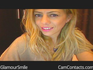 Webcam model GlamourSmile from CamContacts