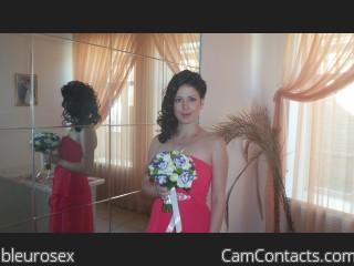 Webcam model bleurosex from CamContacts