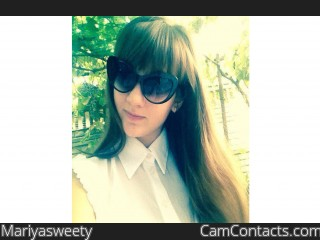Webcam model Mariyasweety from CamContacts