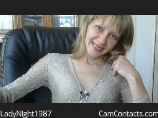 Start VIDEO CHAT with LadyNight1987