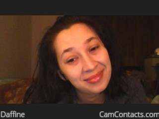 Webcam model Daffine from CamContacts
