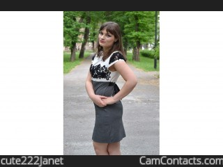 Start VIDEO CHAT with cute222Janet