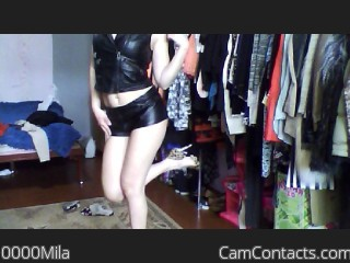 Webcam model 0000Mila from CamContacts
