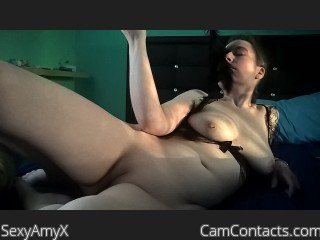 Webcam model SexyAmyX from CamContacts