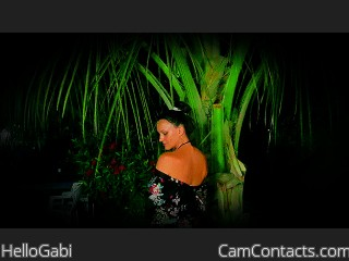 Webcam model HelloGabi from CamContacts