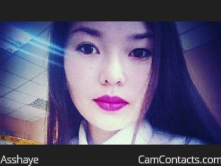 Webcam model Asshaye from CamContacts