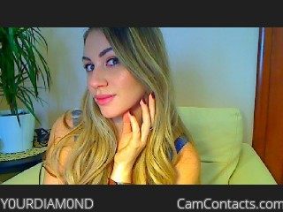Webcam model Y0URDIAM0ND from CamContacts
