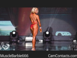 Webcam model MuscleBarbie666 from CamContacts