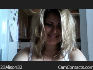 Webcam model 23Alison32 from CamContacts