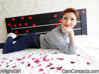 Webcam model ARightGirl from CamContacts