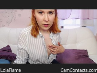 Webcam model LolaFlame from CamContacts