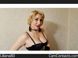 Start VIDEO CHAT with Liliana80