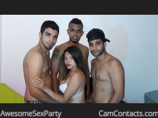 Webcam model AwesomeSexParty from CamContacts