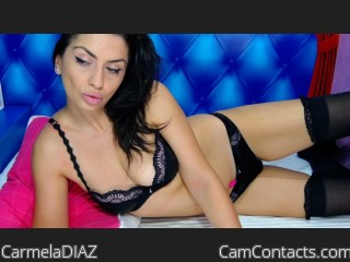 Webcam model CarmelaDIAZ from CamContacts