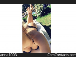 Webcam model anna1003 from CamContacts