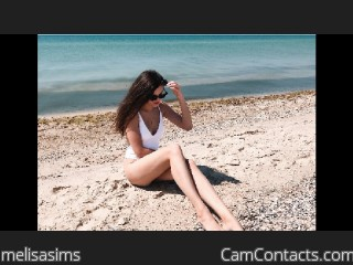 Webcam model melisasims from CamContacts