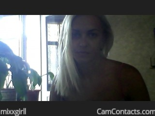 Webcam model mixxgirll from CamContacts