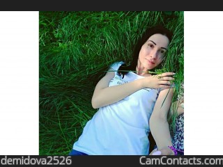 Webcam model demidova2526 from CamContacts