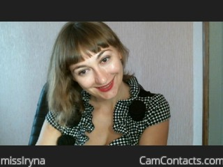 Webcam model missIryna from CamContacts