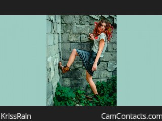 Webcam model KrissRain from CamContacts
