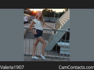 Webcam model Valeria1907 from CamContacts