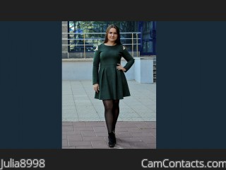 Webcam model Julia8998 from CamContacts