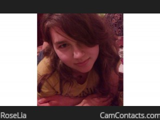 Webcam model RoseLia from CamContacts