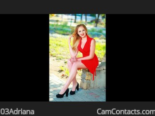 Webcam model 03Adriana from CamContacts