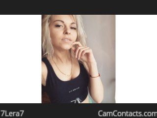 Webcam model 7Lera7 from CamContacts